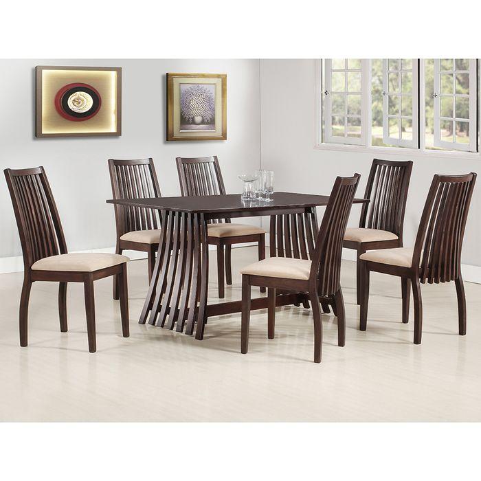 Juego de comedor mesa + 6 sillas - geant