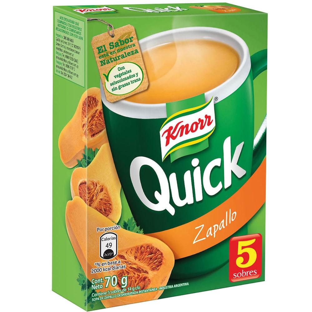 Sopa lista Knorr Quick zapallo 5 sobres