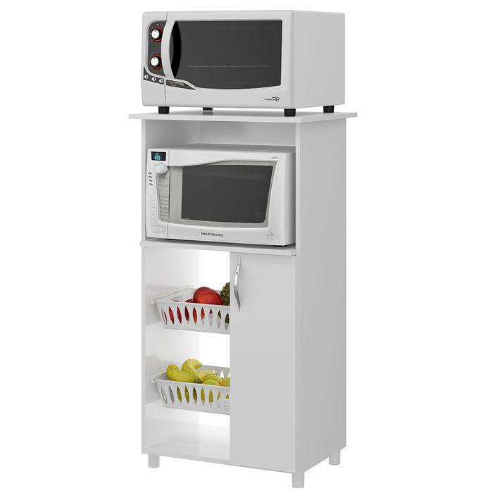 Armario-para-microondas-blanco-negro-62x116x45cm