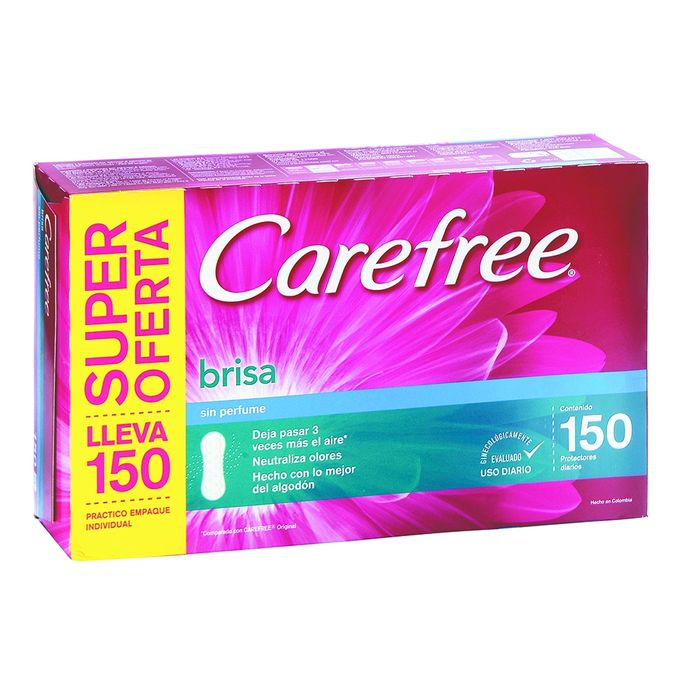 Protector-Diario-CAREFREE-Brisa-sin-Perfume-150x120