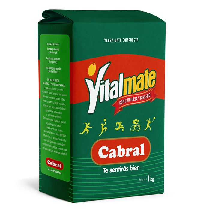 Yerba-CABRAL-vitalmate-Carqueja--ginseng-1-kg