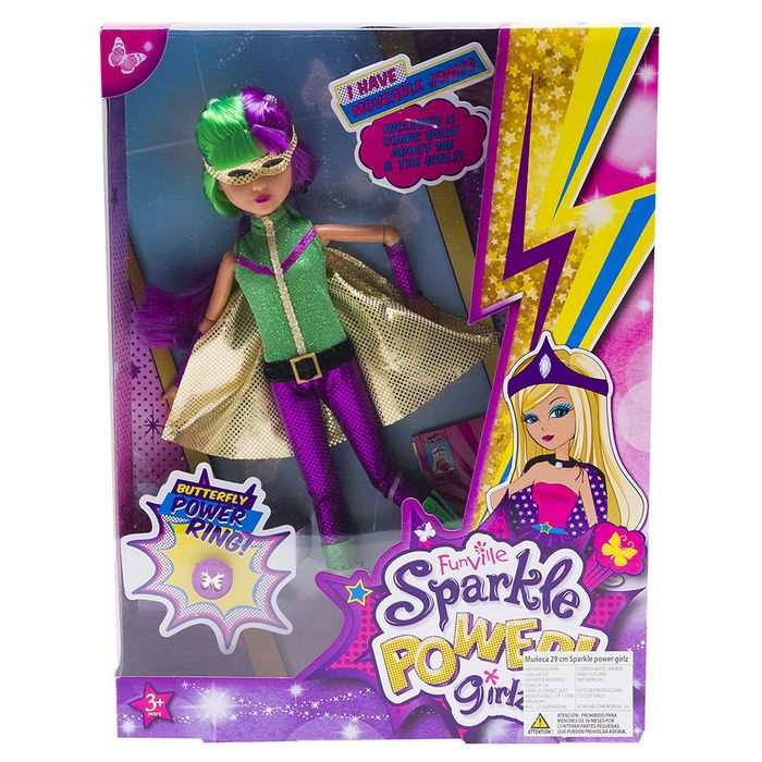 Muñeca-29cm-sparkle-power-girl