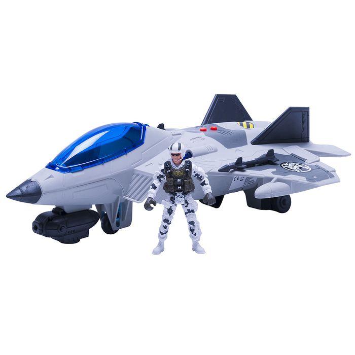 Avion-con-soldado-y-accesorios