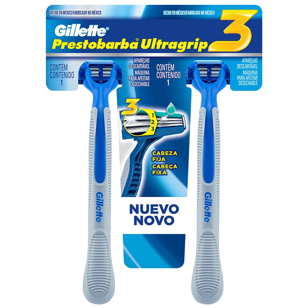 Máquina de Afeitar Gillette Ultragrip 3 T-Card 2 un. - geantfood d38db3261db3
