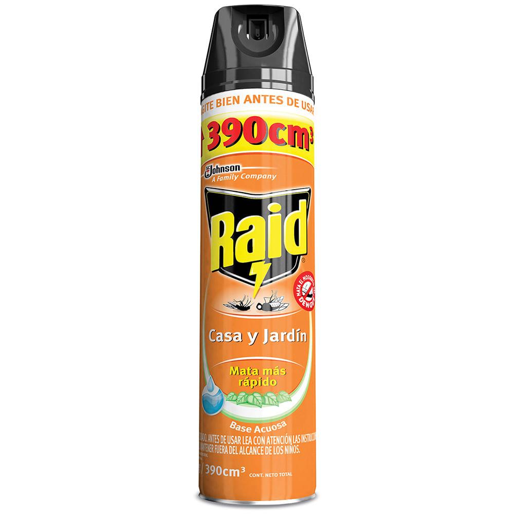 insecticida raid casa y jardín 360 cc geantfood