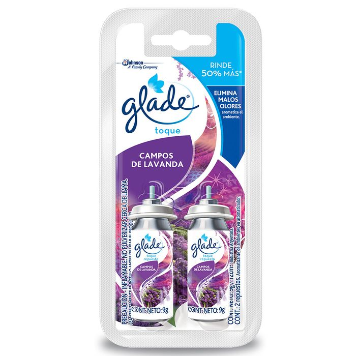 Desodorante-Ambiente-GLADE-Toque-repuesto-Twin-Lavanda