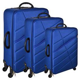 f7b64ebe9 Set de 3 valijas 4 ruedas color azul - geant
