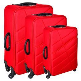 8668d3bcd Set de 3 valijas 4 ruedas color rojo - geant