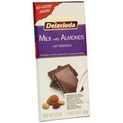 Chocolate-DELAVIUDA-Leche-Almendras-sin-azucar-100-g