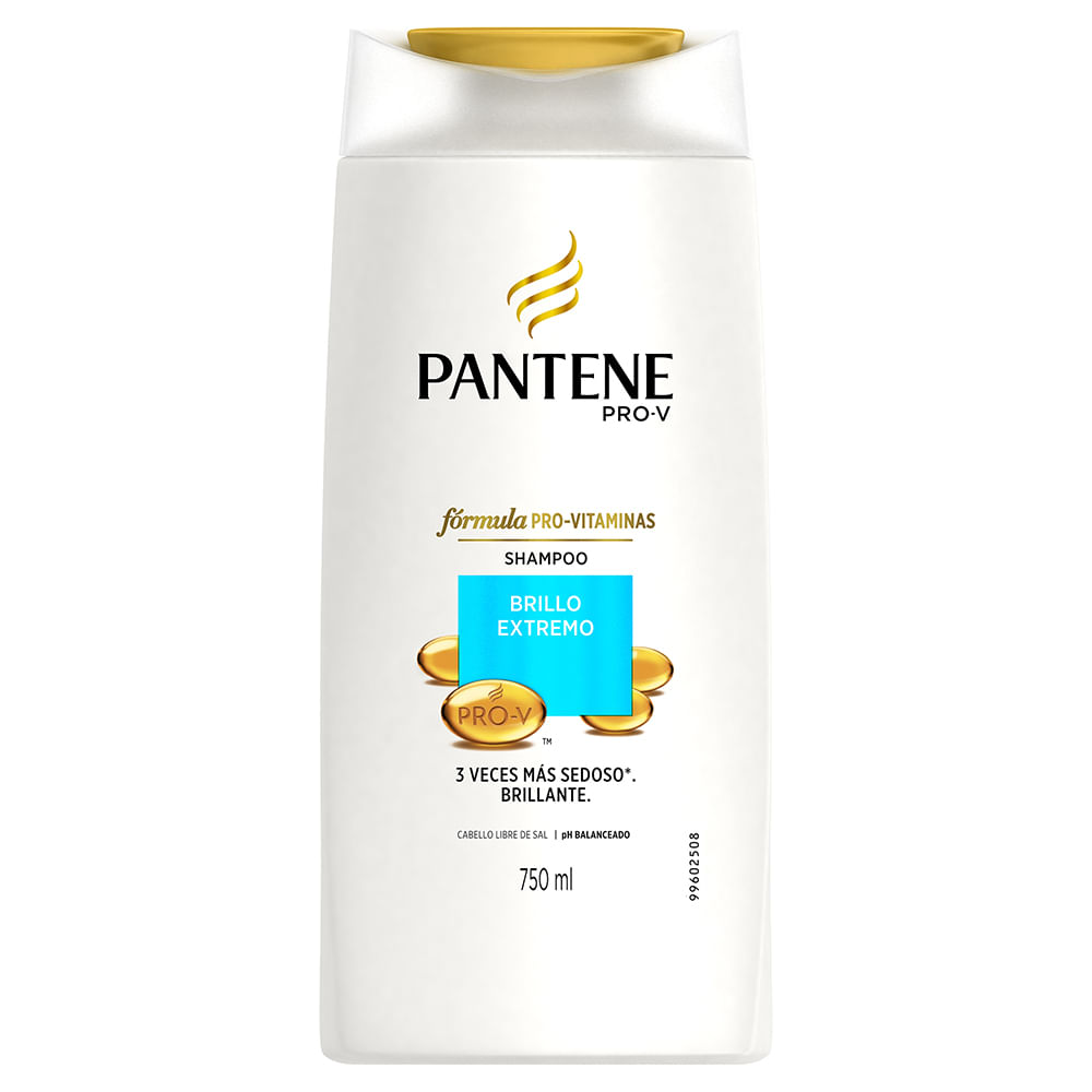 Shampoo Pantene brillo extremo 750 ml