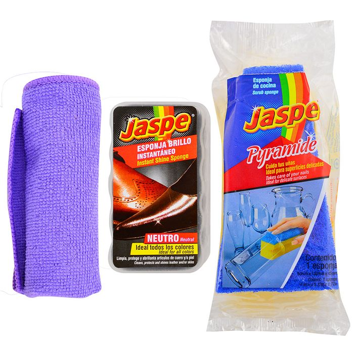 Pack-Fibra-Brillo-Calzado---Esponja-Kids---Microfibra