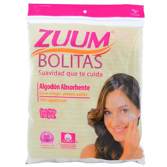 Bolitas-de-Algodon-ZUUM-Ziploc-150-un.
