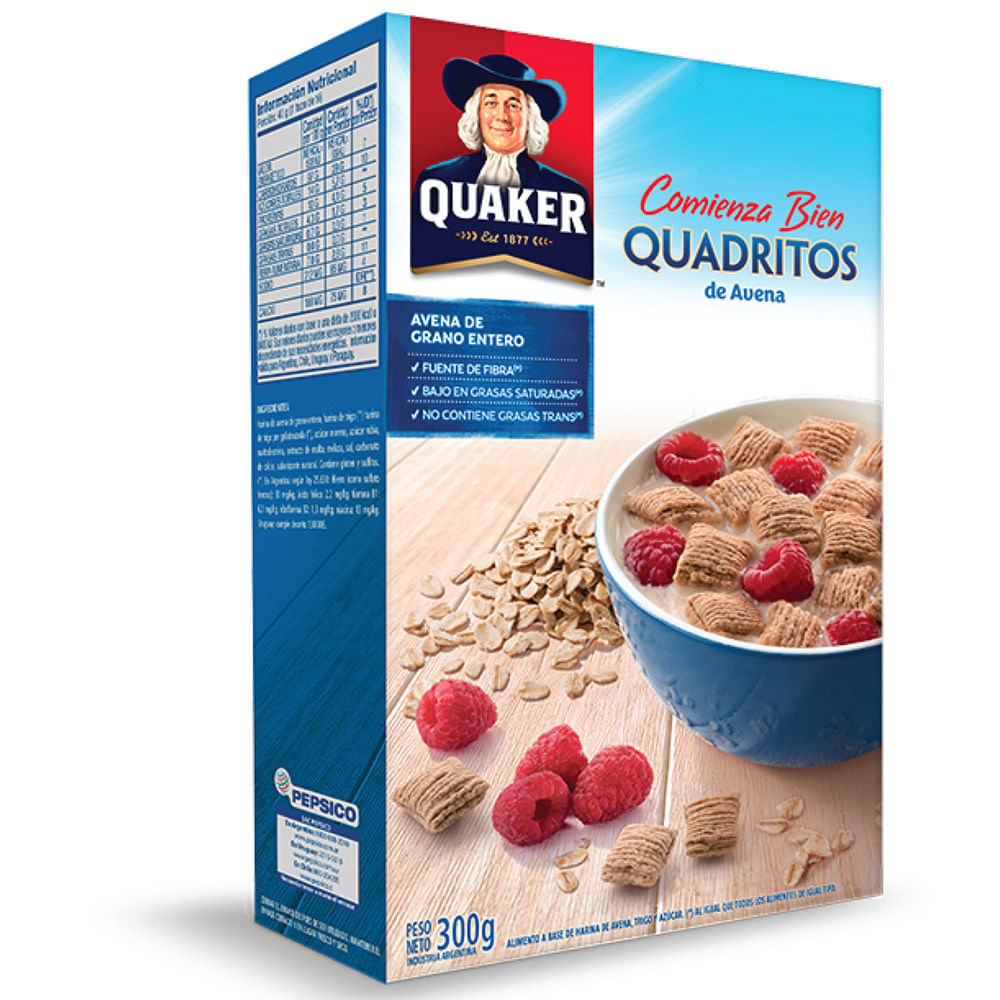 Cereal Quaker Quadritos De Avena 300 G