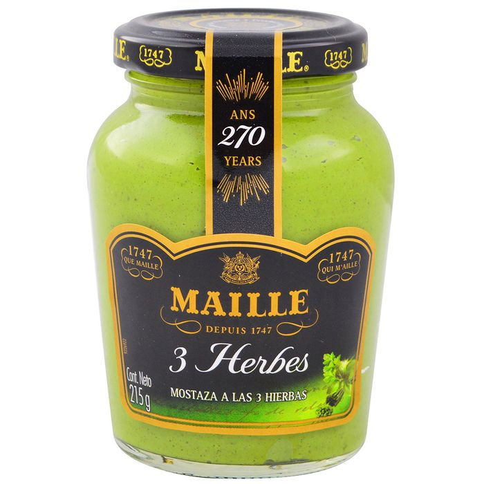 Mostaza-Verde-Tres-Hierbas-MAILLE-fco.-200-ml