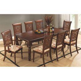 Juego de comedor en madera 8 sillas 74x200x100 cm - geant