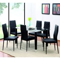 Juego-de-comedor-6-sillas-tapizadas-negro-75x135x75-cm