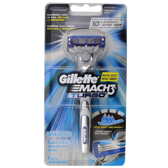 Maquina-Afeitar-GILLETTE-Mach-3-Turbo-Razor-con-1-Repuesto