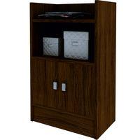 Biblioteca-baja-con-puertas-color-castaño-80x49x30cm