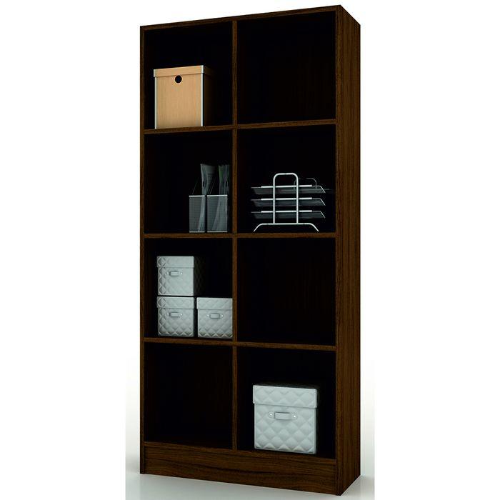 Biblioteca-doble-Mod.-Bookcase-con-estantes-color-castaño-174x80x30-cm