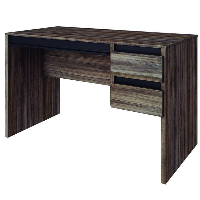 Escritorio-Mod.-Alabama-2-cajones-color-chocolate-y-negro-75x120x60-cm