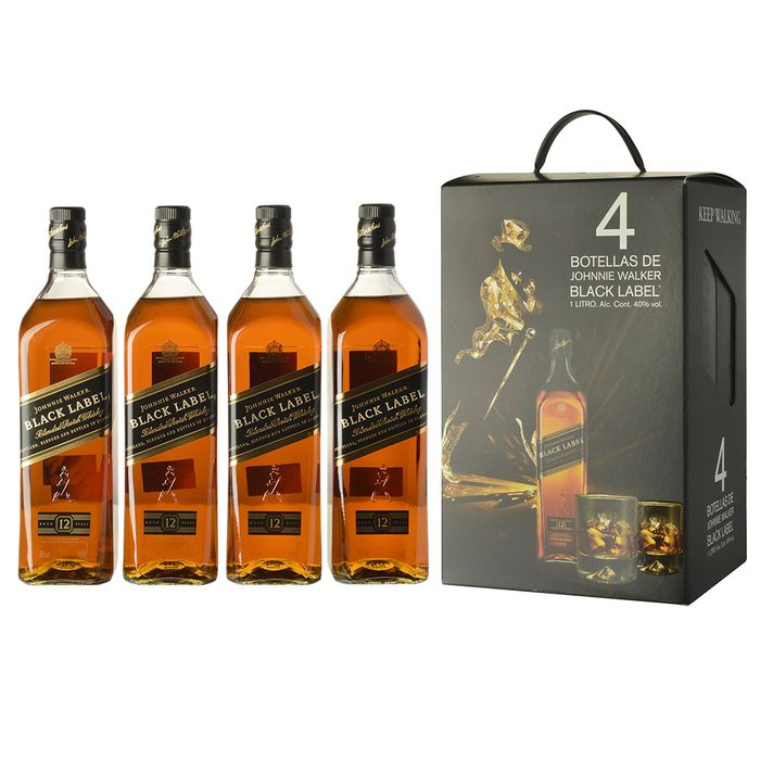 Whisky-Escoces-JOHNNIE-WALKER-negro-pack-x-4