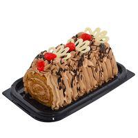 Arrollado-de-chocolate-en-bandeja