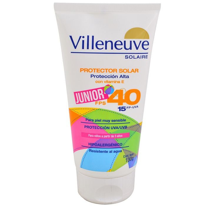 Protector-solar-VILLENEUVE-fps-40-junior-130-g
