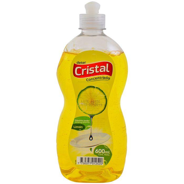 Detergente-liquido-lavavajilla-CRISTAL-concentrado-limon-600-ml