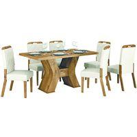 Juego-de-comedor-mesa-rectangular---6-sillas-tapizadas