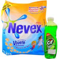 Pack-detergente-en-polvo-Nevex-3-kg-sol---Cif-300-ml