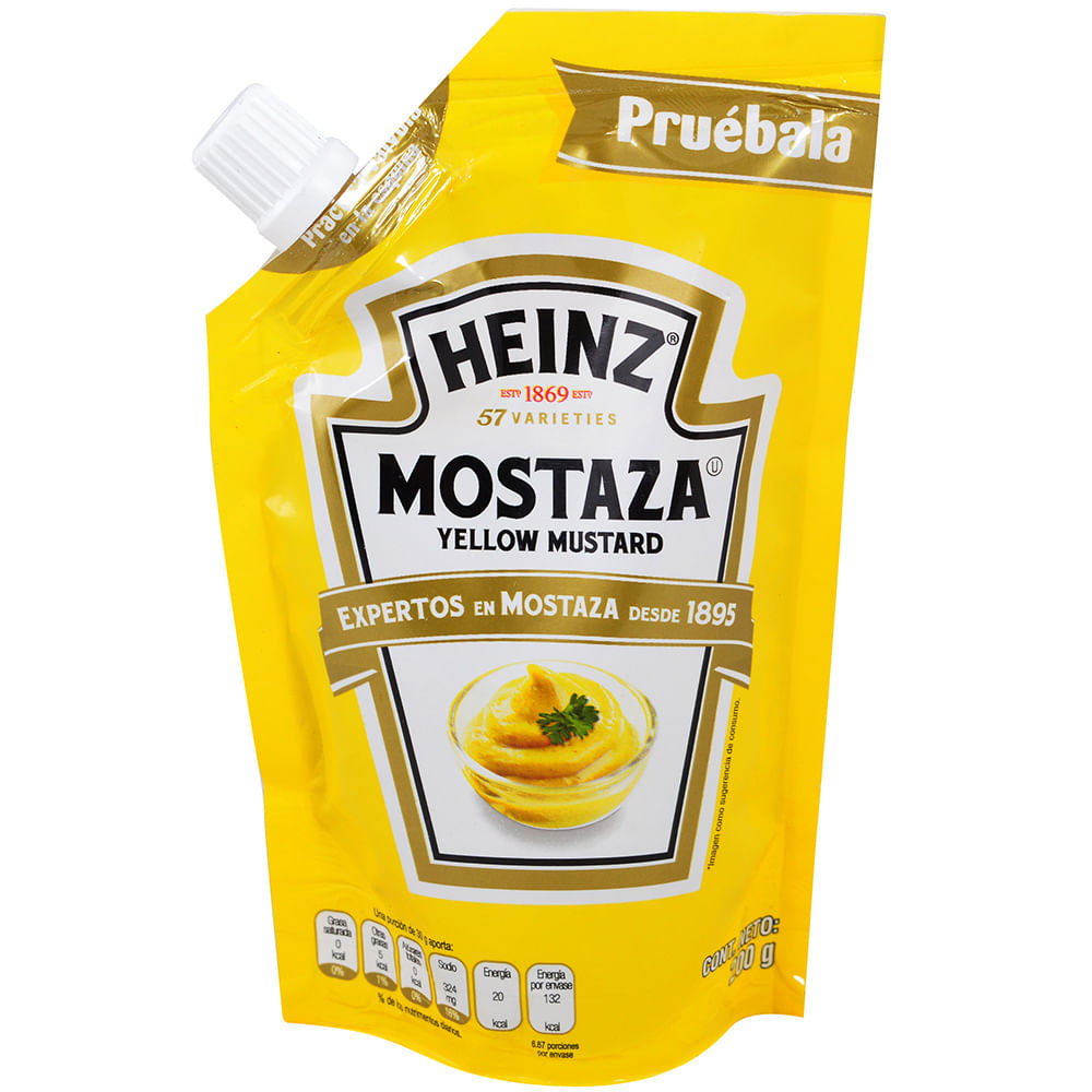 Mostaza Yellow Heinz 200 G Geantun