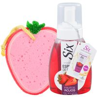 Pack-Six-frutos-rojos-espuma-270ml---esponja