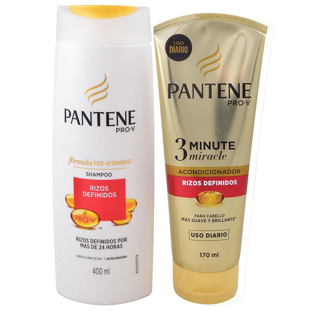 Pack Pantene Shampoo Rizos Definidos 400 Ml Acondicionador 170 Ml