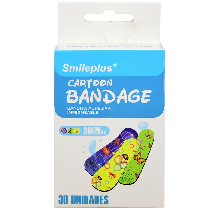 Banditas-adhesivas-cartoon-Smileplus-30-un.