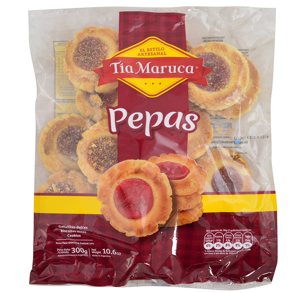Galletitas Tía Maruca Pepas Dulces 300 G