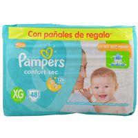 Pañales-Pampers-confort-sec-forte-bag-XG-48-un.