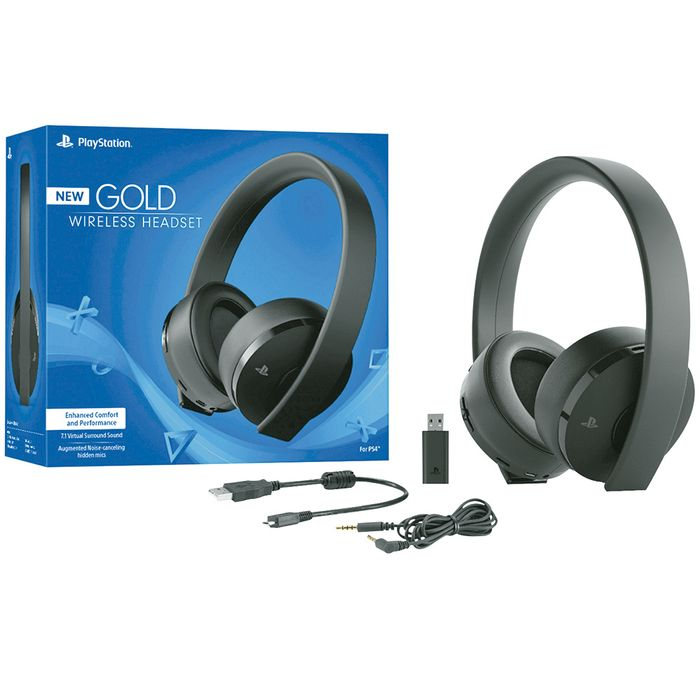 Auricular-SONY-gaming-inalambrico-gold