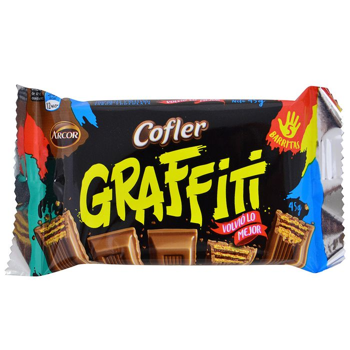 Chocolate-Arcor-cofler-graffiti-45-g