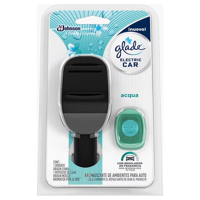 Perfumador-GLADE-electric-car-12v-acqua