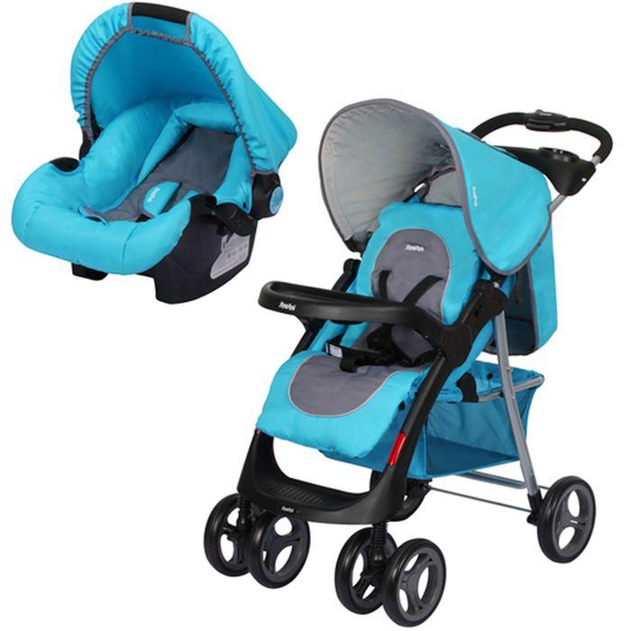Coche-INFANTI-con-babysilla-Mod.-SE30B-y-base-azul