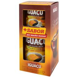 Pack-cafe-soluble-Iguacu-lata-100-g---lata-50-g