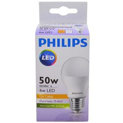 Lampara-PHILIPS-essensial-led-bulb-6w-e27-3000k