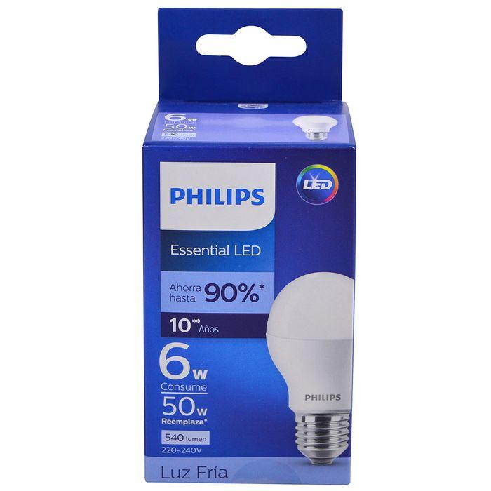 Lampara-PHILIPS-essensial-led-bulb-6w-e27-6500k