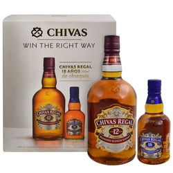 Whisky-escoces-Chivas-Regal-12-años-1-L---Chivas-Regal-18-años-200-cc