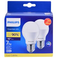 Pack-led-PHILIPS-x-2-Mod.-Essensial-7.5w-3000k-e27
