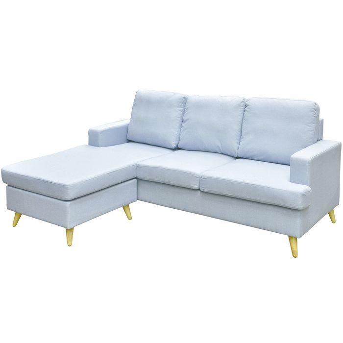 Sofa-con-chaise-azul-con-patas-madera-202x89x153cm