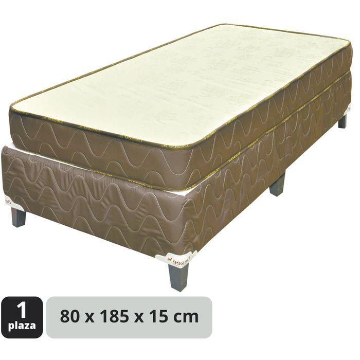 Conjunto-de-sommier-espuma-capito-marron-80x185x15cm