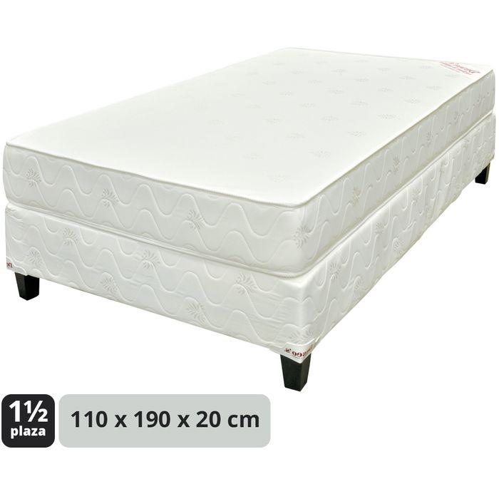 Conjunto-de-sommier-1-plaza-1-2-de-espuma-110x190x20cm