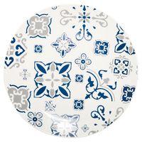 Plato-llano-26cm-ceramica-blanco-con-diseño-azul