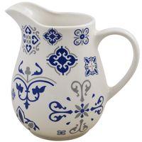 Jarra-17x9cm-ceramica-blanco-con-diseño-azul